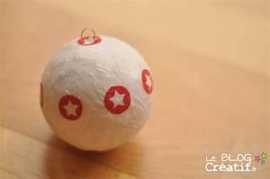 Boule En Papier Crepon : un boule de no l en papier de soie et serviettage le blog cr ~ Dode.kayakingforconservation.com Idées de Décoration