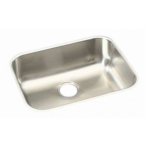 kitchen sinks single bowl stainless steel elkay undermount stainless steel 24 in single bowl 9591