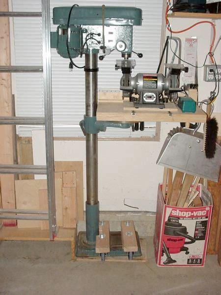 minimalist drill press mobile base