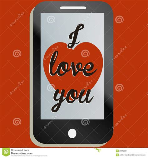you mobile i you mobile phone message stock vector
