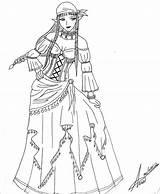 Gypsy Coloring Zelda Deviantart Tattoo Anapauladbz Adults Sheets Lady Sketch Template Skull Sugar sketch template
