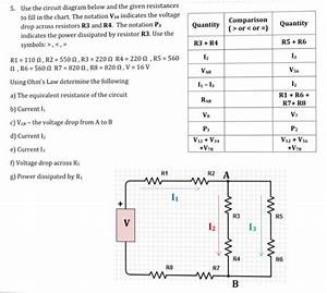 Solved  Use The Circuit Diagram Below And The Given Resist