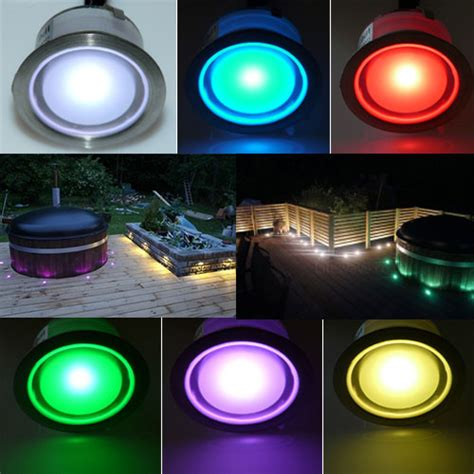 how to change the color of an led light color changing led plinth and deck light led plinth light