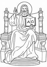 Coloring King Christ Popular sketch template