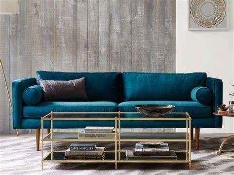 idée canapé deco salon avec canape bleu chaios com