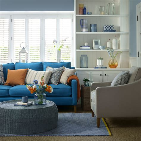 blue living room ideas  midnight  duck egg