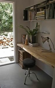 Bureau Bois Brut : les meubles en bois brut sont une jolie touche nature pour l 39 int rieur ~ Melissatoandfro.com Idées de Décoration
