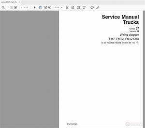 Volvo Fm7-fm9-fm12 Lhd Truck Service Manual