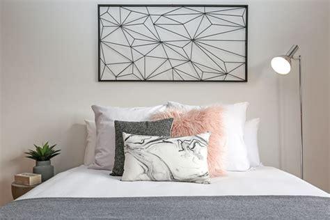 funky pink grey black  white teen girls bedroom faux