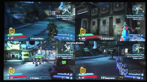 4 Player Split Screen Gameplay From The