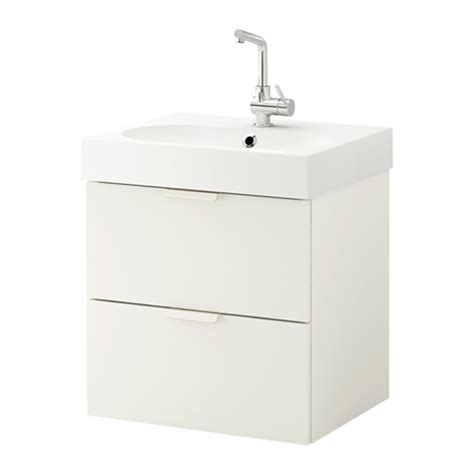 godmorgon br 197 viken sink cabinet with 2 drawers white