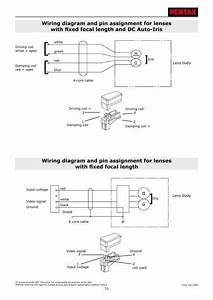 Wiring Diagram And Pin Assignment For Lenses With Fixed