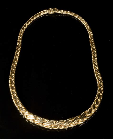 Tiffany & Co, Yellow Gold Necklace, Marked 585(14k