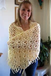Free Crochet Fan Shawl Pattern