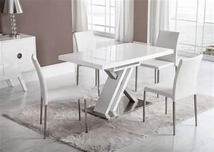 Pied De Table Original : acheter votre table moderne pied central croix laqu e blanche chez simeuble ~ Teatrodelosmanantiales.com Idées de Décoration