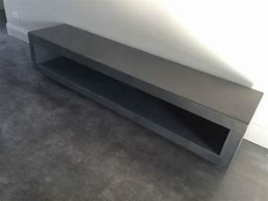 Meuble Tv Effet Beton : table beton par stuc co meubles tv b ton cir ~ Teatrodelosmanantiales.com Idées de Décoration