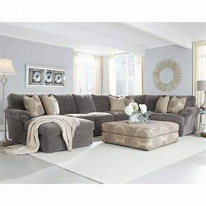 Grey, Sectional, Couch