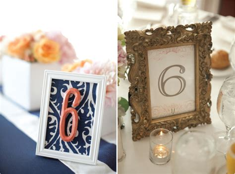 picture frames for wedding tables wedding table number galore belle the magazine