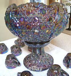 carnival electric purple gorgeous lbs punch bowl set