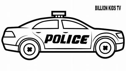 Police Coloring Pages Printable Cop Drawing Vehicles
