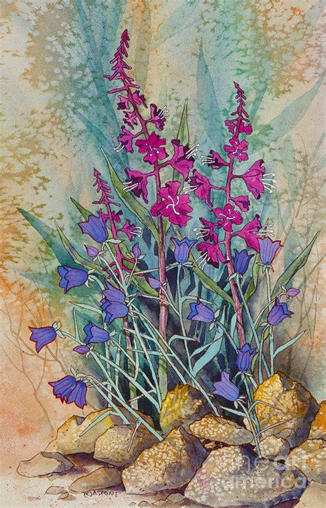 fireweed  bluebells painting  teresa ascone