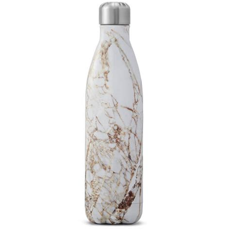 1658 white marble swell bottle s well the calacatta gold water bottle 750ml free uk