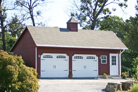 two car garage detached two car garage prices from amish pennsylvania
