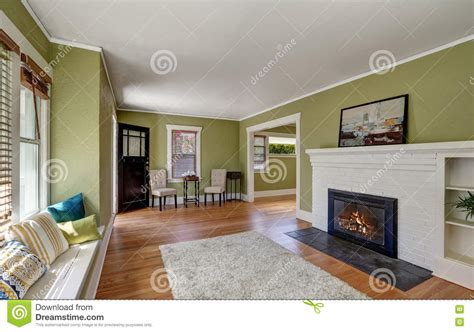 Living Room Interior Design Of Craftsman House Stock Image