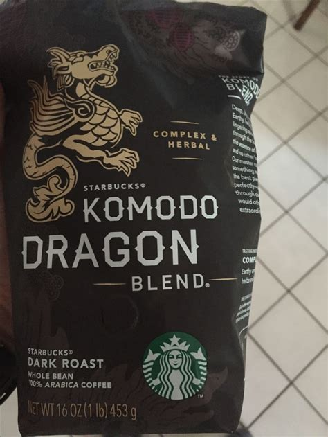 These include our regular and decaf coffee options, as well as k cups. Komodo dragon dark roast Starbucks whole bean coffee 1 lb | Coffee beans, Coffee, Dark roast