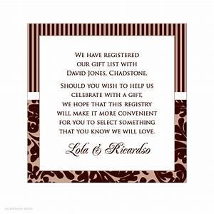 Wedding Invitation Registry Wording