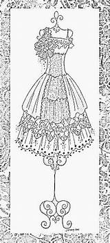 Coloring Adult Pages Dresses Books Embroidery Adults Drawing Corset Short Form Gown Sketches Supplies Mannequin Clip Jennelise Colouring Victorian Ausmalbilder sketch template