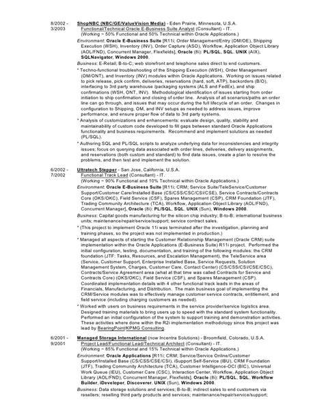 Oracle Database Consultant Resume by Foy S Oracle Applications Consultant Resume Cv