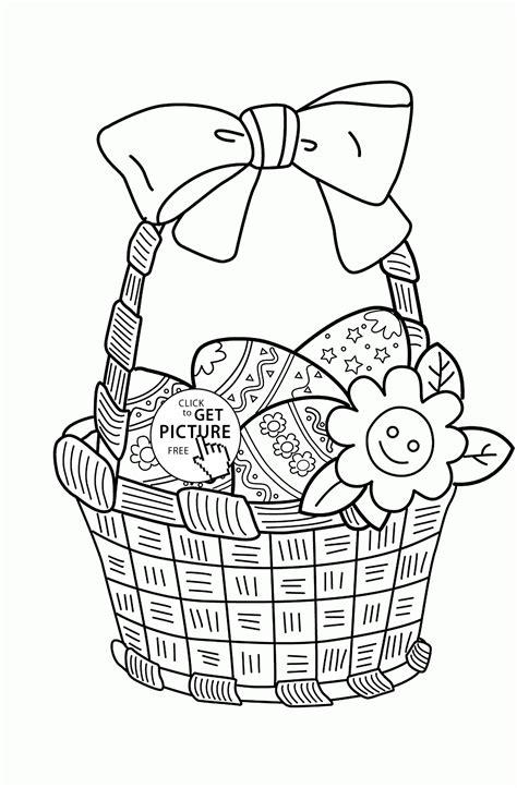easter basket coloring pages easter egg basket coloring pages az coloring pages