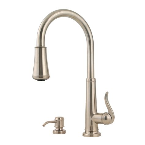 price pfister kitchen faucet shop pfister ashfield brushed nickel 1 handle pull