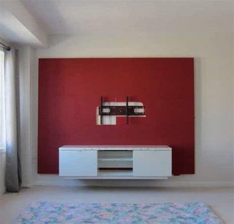 diy floating wall   build  bachelor pad tv stand