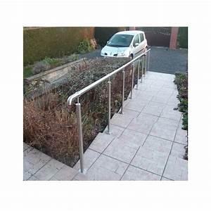 Rampe Pour Escalier : rampe escalier inox en kit avec bagues pour main courante ~ Melissatoandfro.com Idées de Décoration