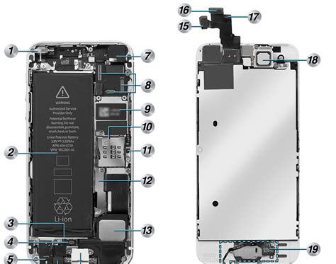 iphone 5s parts diagram view of iphone 5s info