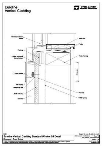 Vertical Cladding Standard Window Sill | steel&tube