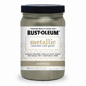 rust oleum 1 qt champagne metallic paint 2 pack 320730 With home depot metallic furniture paint