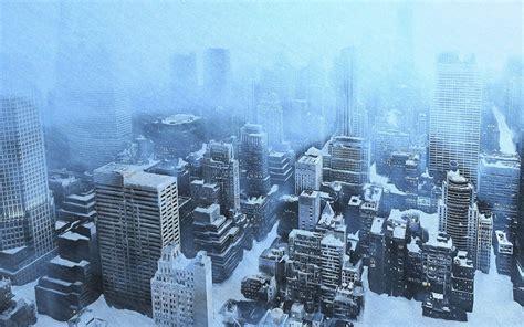 city snow snow city wallpaper 1680x1050 wallpoper 261530