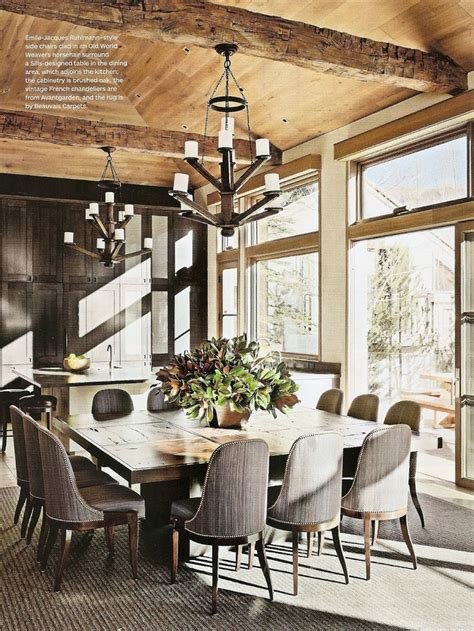 rustic chic dining room via ad rustic charm pinterest