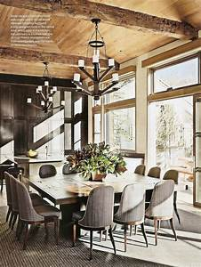 rustic chic dining room via ad rustic charm pinterest With rustic chic dining room ideas