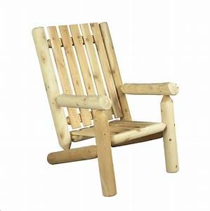 Fauteuil Jardin Bois : fauteuil de jardin en bois dossier haut c dre rondins ~ Teatrodelosmanantiales.com Idées de Décoration