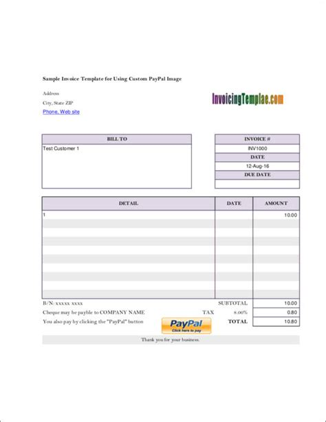 employed invoice samples templates