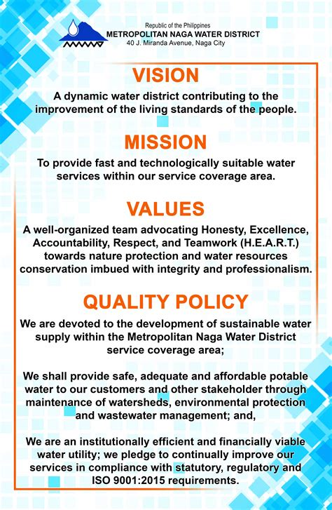 organizational profile metropolitan naga water district