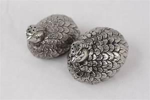 How To Rate Diamonds Chart Gucci Vintage Silver Metal Quail Salt And Pepper Shakers