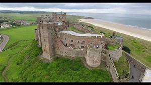 Aerial View of Bamburgh Castle 4k - YouTube
