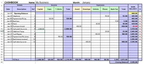 cashbook template nz excel cash book for easy bookkeeping bookkeeping