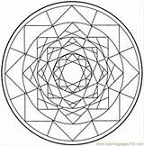 Kaleidoscope Coloring Printable Pages Med Designs Patterns Cool Geometric Circle sketch template