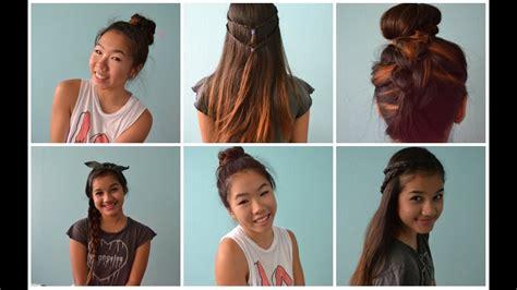 4 Back To School Heatless Hairstyles! ♡